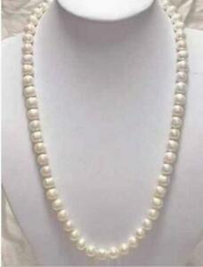 24-034-NATURAL-AAA-9-10MM-SOUTH-SEA-White-PEARL-NECKLACE-14K-GOLD-CLASP