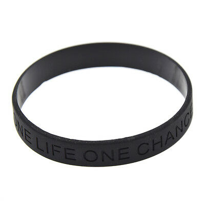 One Life One Chance Silicone Wristbands Awareness Cuff Wrist Band Bracelets New