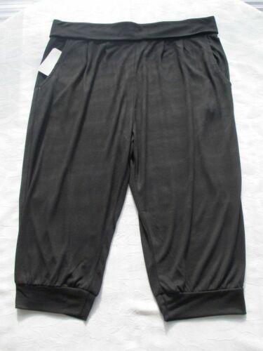 NERO Harem Pantalone Capri L 44 46 3//4 Shirt-Pantaloni Tasche dehnbund trendy comodamente!