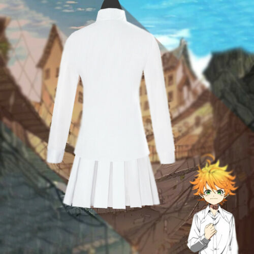 The Promised Neverland Emma Norman White Halloween Adult Cosplay Costume Uniform