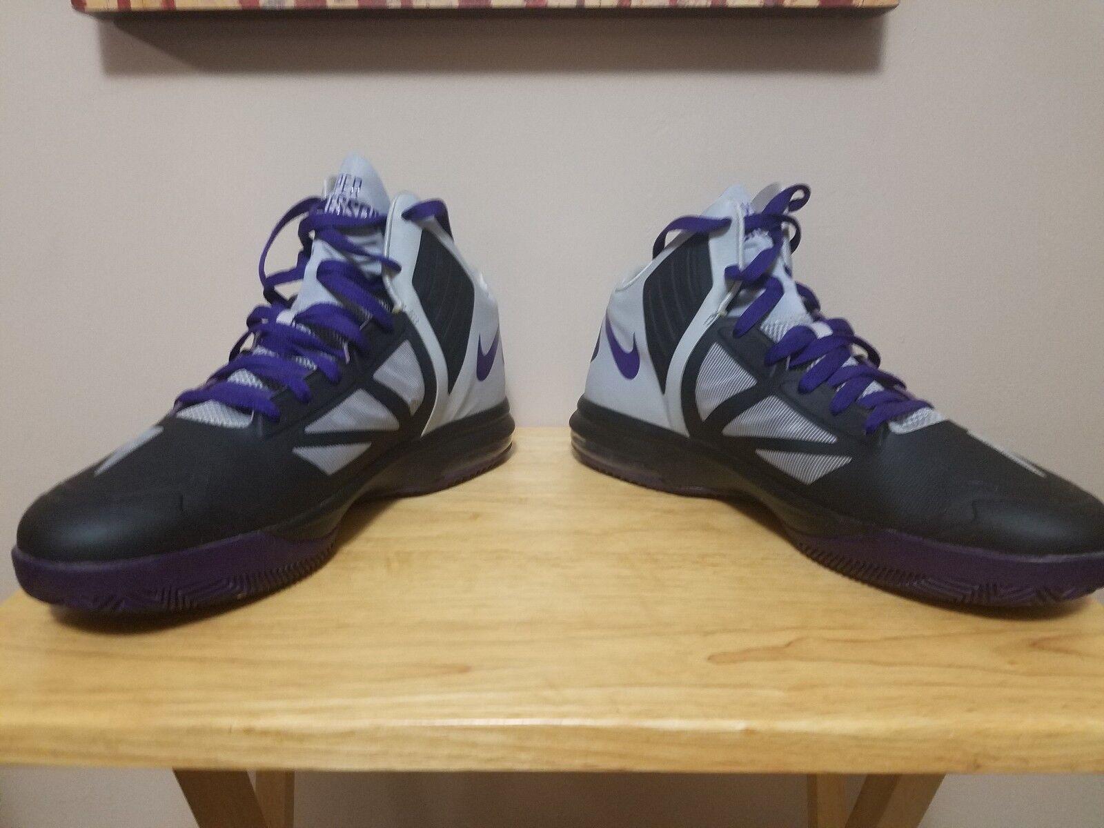 Rare 2013 Mens Nike HYPER Aggressor 524851-010 Size 12 Purple/Black Tennis Shoes