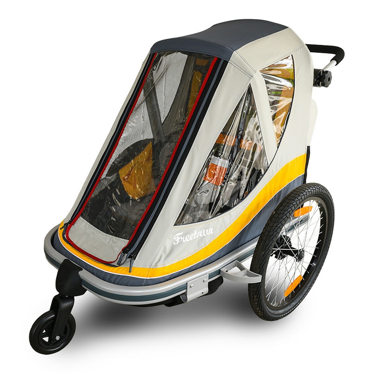 FREETOWN - SWEET ROLL KID TRAILER & STROLLER - Gelb grau