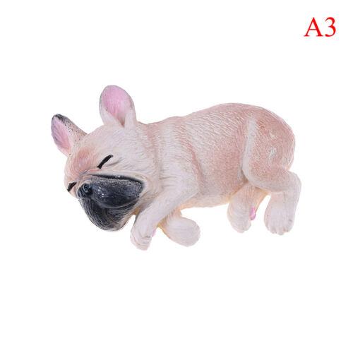 French bulldog sleepy corgis dog toys action figures pvc model toy doll kidFBDU