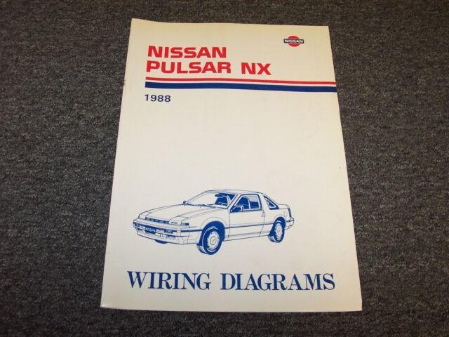 1988 Nissan Pulsar Hatchback Electrical Wiring Diagram Guide Manual Nx 1 6l