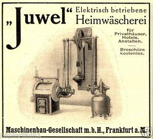 waschmaschine juwel frankfurt reklame von 1915 w scherei transmission reinigung. Black Bedroom Furniture Sets. Home Design Ideas