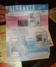 Feuillet Pelure publicitaire Ancien Réfrigérateur FRIGEAVIA vintage Fridge 1955