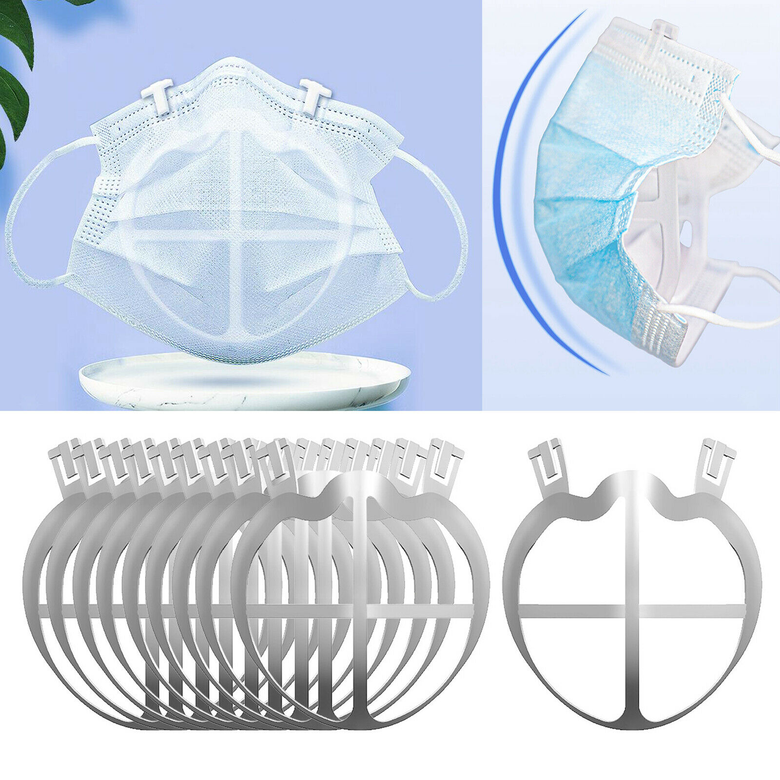 10 Pieces Face Mask Bracket Support Space Rack Keeper Breathable Frame