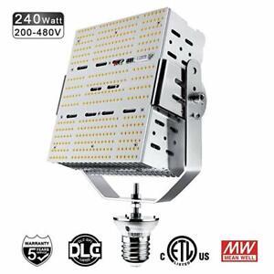 DLC 480V LED Parking Lot Retrofit  240W Outdoor Canopy Shoebox Light 5000K E39