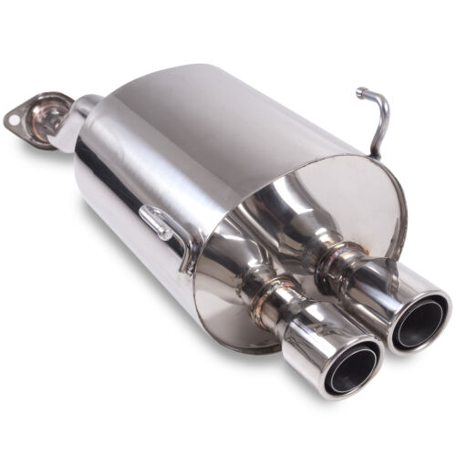 "2.5/"" STAINLESS TWIN TAILPIPE EXHAUST BACKBOX FOR HONDA CIVIC EP3 2.0 TYPER 01-05"