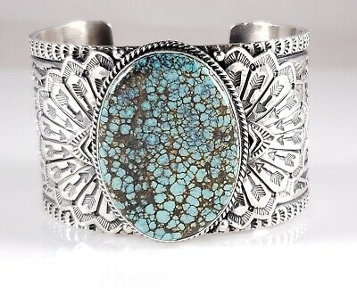 100/% Natrual Hubei Deep Blue Turquoise Ring-Adjustable-925 Sterling Silver