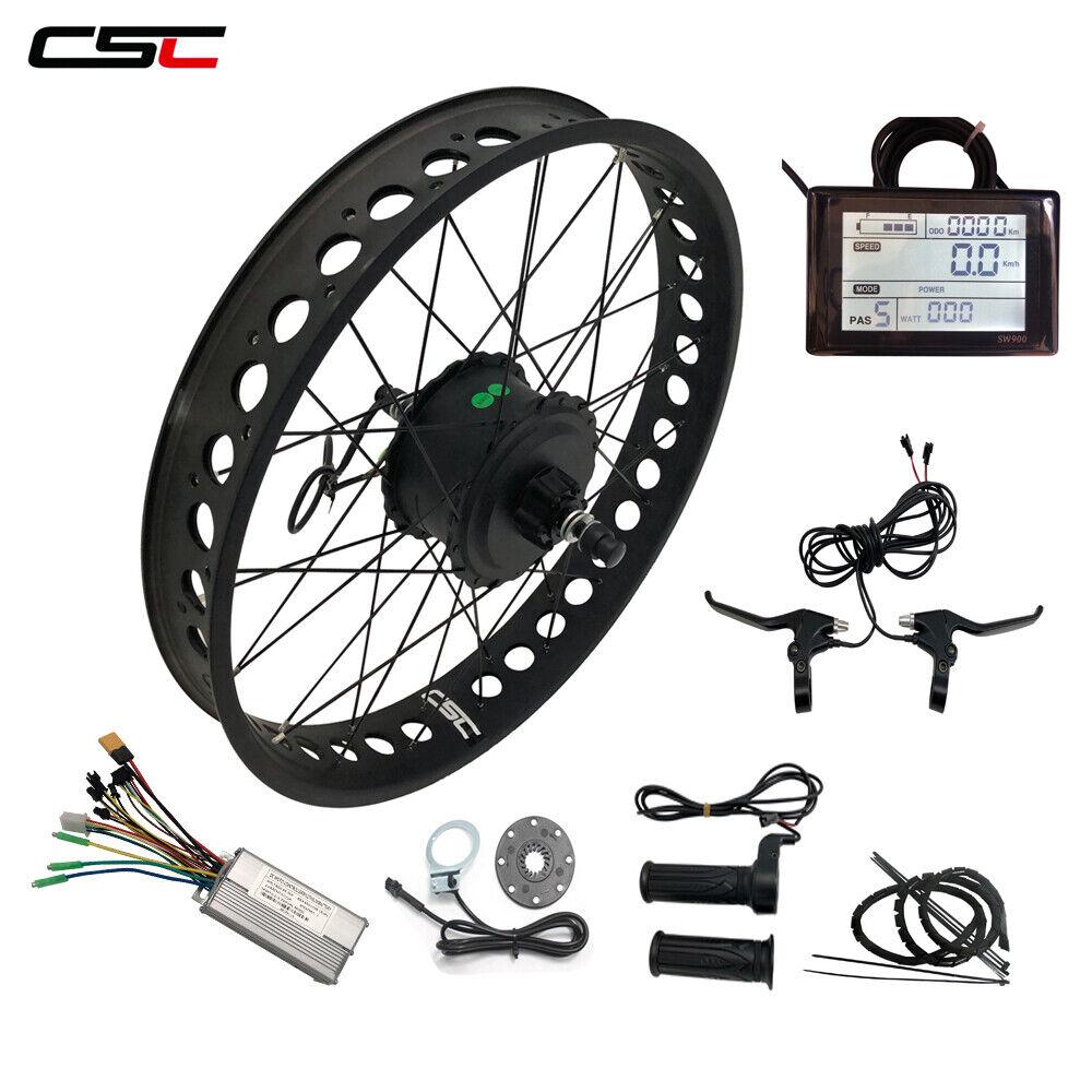 Smart Brushless hub Motor Snow Fat tyre electric e bicicletta Kit 250W 20'' 24'' 26''