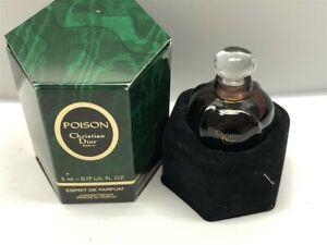Poison-Christian-Dior-0-17-oz-5ml-Espirit-de-Parfum-Original-Formula-1980-039-s