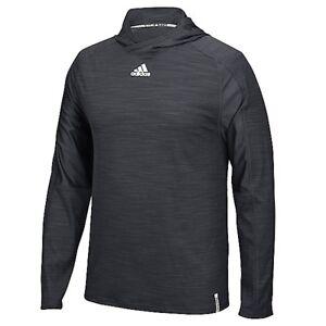 adidas Men's Varsity Training Hood Athletic Breathable Pullover Black Hoodie Tee