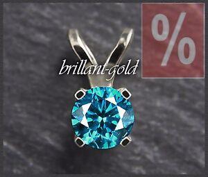 Diamant-Damen-Anhaenger-aus-585-Gold-mit-einem-0-63-ct-Brillant-in-blau-Neu