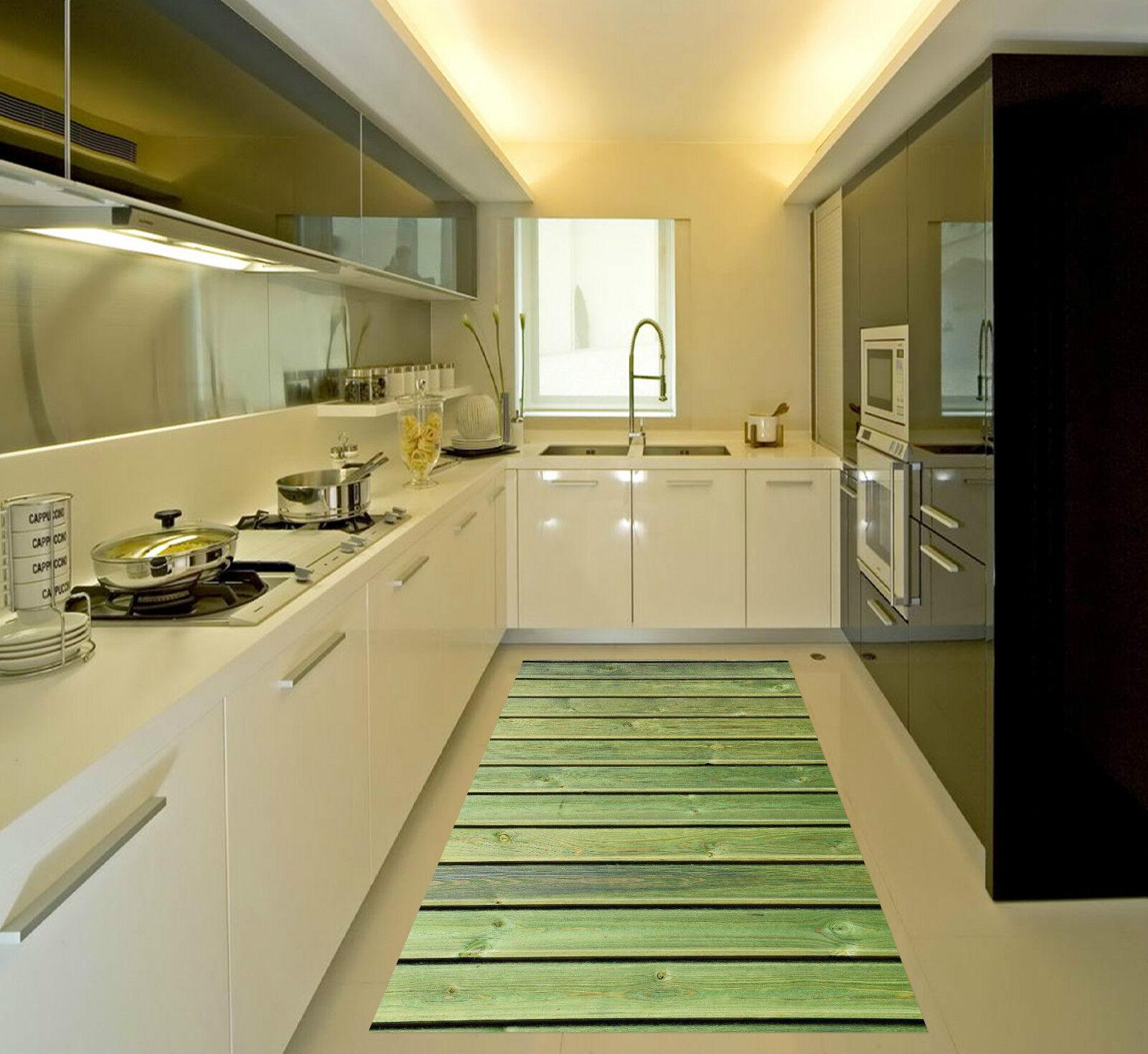 3D Grün Planks 2 Kitchen Mat Floor Murals Wall Print Wall Deco AJ WALLPAPER CA