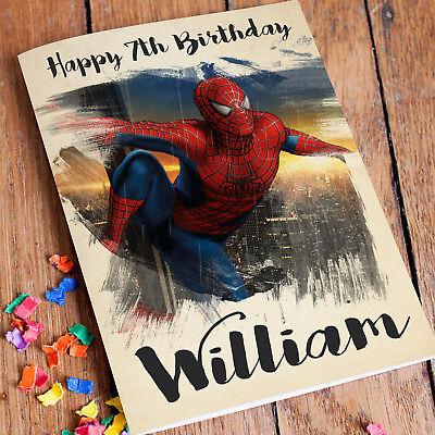 SPIDERMAN Personalised Birthday Card FREE ShippingSon Boys Grandson Nephew