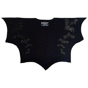 Kreepsville-666-Gothic-Horror-Occult-80s-90s-Vampire-Flying-Bats-Scalloped-Top