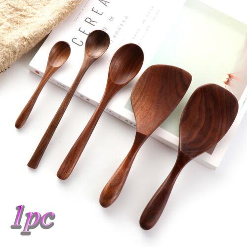 Holz Löffel aus Reismühlen Honig Tee Scoops Schwarze Walnuss Löffel für Kaffee