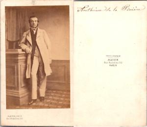 CDV-Mayer-Paris-Homme-nommee-Antheme-de-la-Piniere-circa-1860-Vintage-CDV-alb