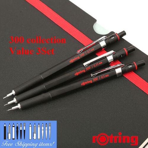 NEW Ship Free 0.5 0.7mm Mechanical Pencil Set rOtring 300 0.35 Value 3set
