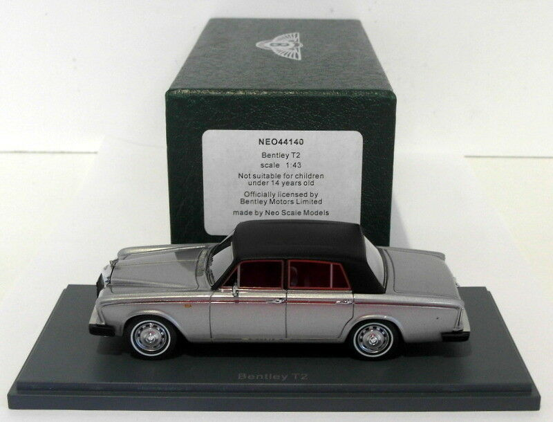 NEO échelle 1 43 Résine Modèle NEO44140-Bentley T2-Argent Noir
