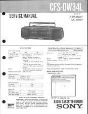 Sony Original Service Manual für CFS-DW 34L