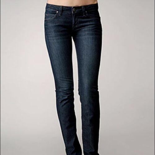 Jeans Medio Scuro Vintage Womens Gamba Dritta Paige 24 Alta HxTAFx