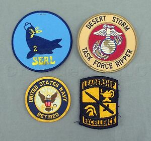 united states us retired navy military seals desert storm patches