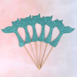 sirene-Fishtail-drapeau-gateau-Topper-anniversaire-decoration-fete-cadeau-fi-CL