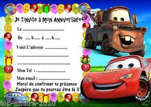5 cartes invitations anniversaire cars 03 - Anniversaire Cars