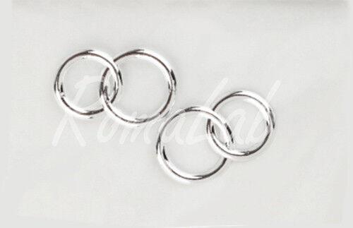 2 coppie di anelli doppi fedi colore argento nozze d/'argento MATRIMONIO SPOSI