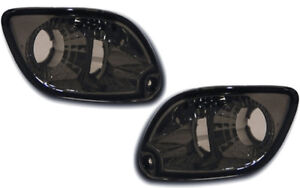 For-Ford-Focus-1998-2001-Front-Indicators-Detector-Crystal-Smoked-Black-Pair