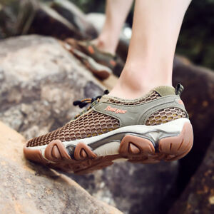 NEW-Men-039-s-Mesh-Breathable-water-river-sports-shoes-trail-hiking-outdoor-snekaers