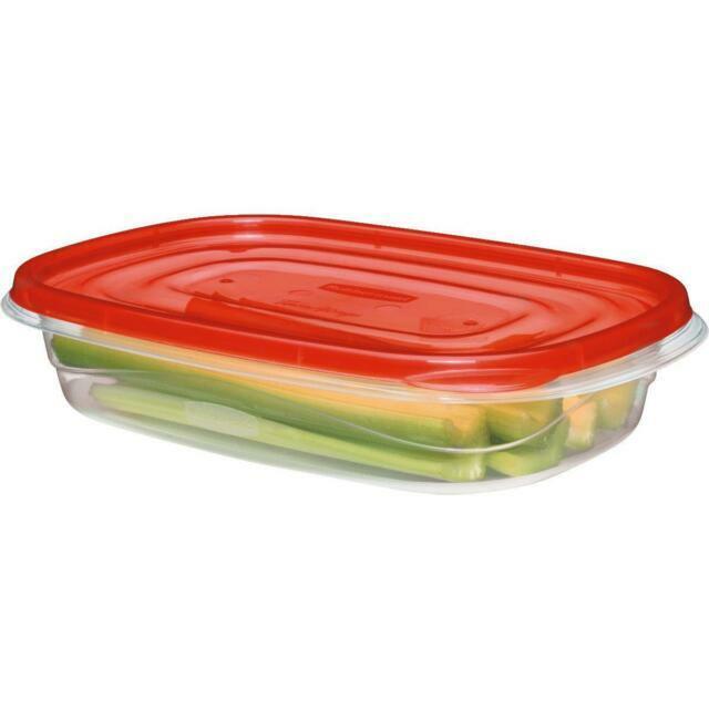"Set//Lot of 2 Rubbermaid 7J58 Blue Plastic 4/"" Food Storage Replacement Lids Seals"