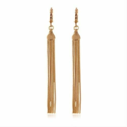 "9ct 9K Yellow /""GOLD FILLED/"" Ladies Girls Long Light EARRINGS.81mm Gift,2075"