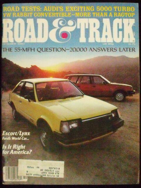 ROAD & TRACK, VOL. 32. NO. 2, OCTOBER 1980