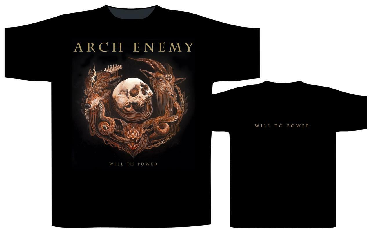 OFFICIAL LICENSED - ARCH ENEMY - WILL TO POWER T SHIRT - DEATH METAL SWEDEN
