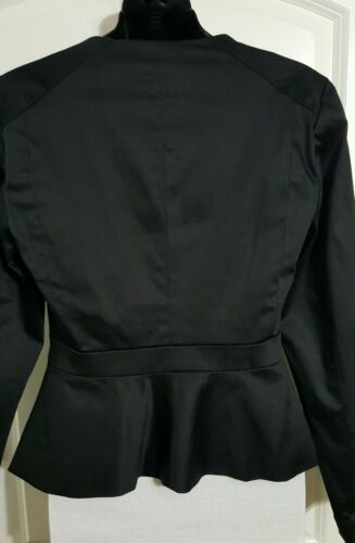 Womens Dressy Jacket Zip Front Attention Black Lined 2 4 8 12 14 16 NWT NEW