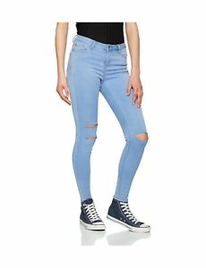 elegant in style best selling wide varieties Details about New Look Women's Supersoft Skinny Rip Jenna Jeans Blue (Blue  Denim) 10 / 32L