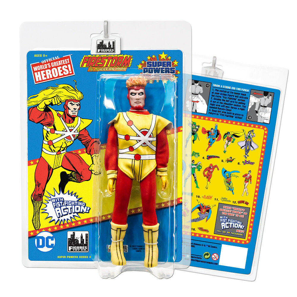 Super Powers 8 Inch Action Figures With Fist Fighting Action Series  Firestorm