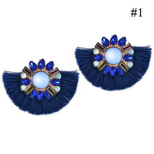 Bohemian Long Tassel Fringe Drop Dangle Earrings Ear Stud Jewelry Women Newly