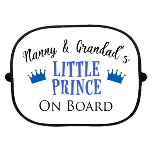 Nanny and Grandads Little Prince On Board Car Sun Shade Window Grandchildren