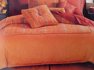 CHARTER-CLUB-Bedskirt-King-Gold-Red-NWT