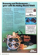 1976 Holley Model 4360 & 4165 Chevy Carburetor Economy Performance Print Ad.