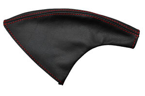 1997-2001-FITS-HONDA-PRELUDE-LEATHER-E-BRAKE-BOOT-RED-DOUBLE-STITCHING