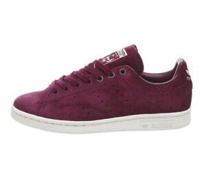 wholesale dealer 80024 efd9c Details about Adidas Originals Stan Smith Maroon Suede White Gum Sole (UK  10) BNIB