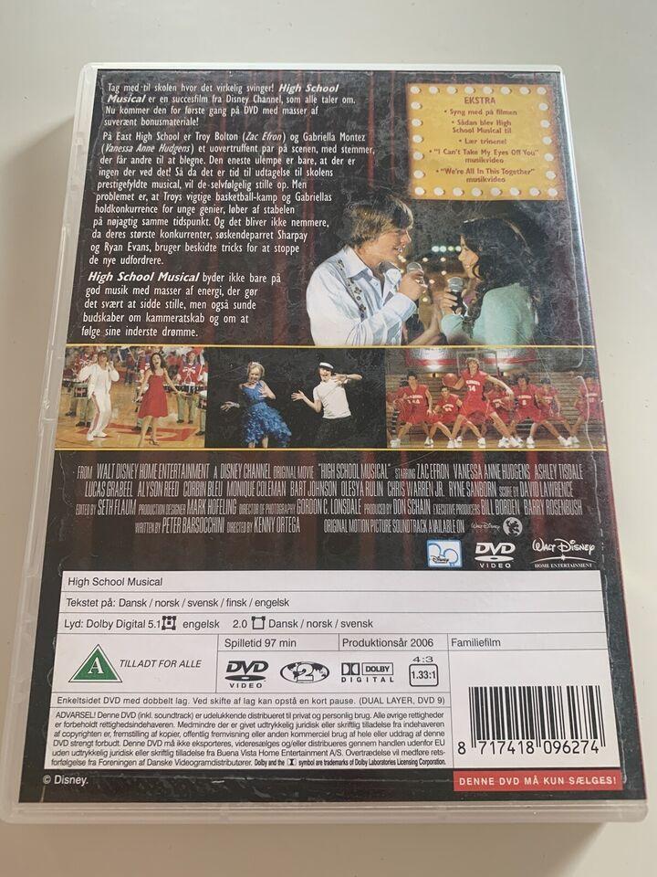 High School musical, DVD, familiefilm