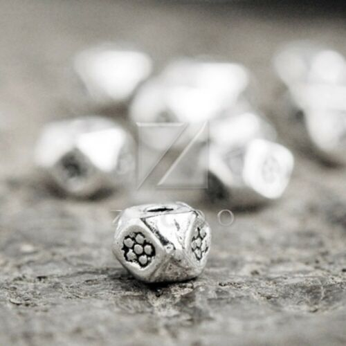 200pcs Lots Tibetan Silver Loose Spacer Charm Metal Bead Jewelry 3x4x4mm