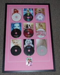 Britney-Spears-Signed-Framed-22x33-Career-CD-Display-JSA