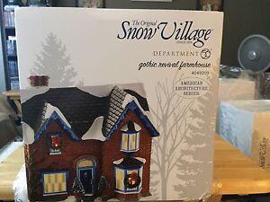 Image Is Loading Dept 56 Snow Village Gothic Revival Farmhouse 4049209